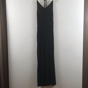 Epix USA   vintage women maxi black crochet front